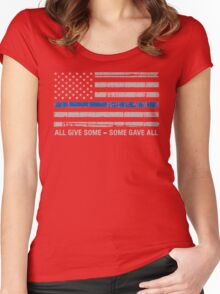 Blue Lives Matter Police Support Women's Fitted Scoop T-Shirt