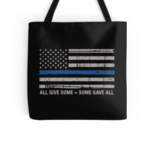 Blue Lives Matter Police Support Tote Bag