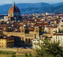 Impressions Of Florence - a View From the Top Sticker