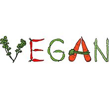 Vegan vegetables drawing color Photographic Print