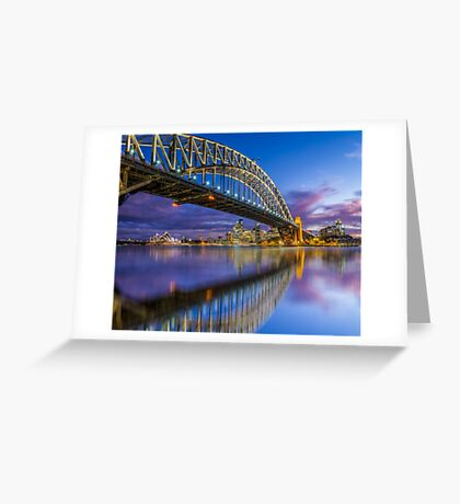 Magnificient Sydney Harbour Bridge Greeting Card