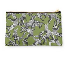 woodland fox party green Studio Pouch