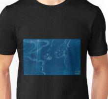 American Revolutionary War Era Maps 1750-1786 592 Map of Stony and Verplanck Points on the Hudson River as fortified by Sir Henry Clinton June 1779 Inverted Unisex T-Shirt