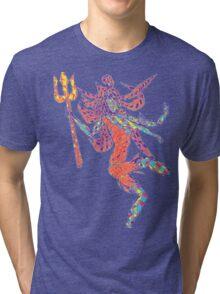 Psychedelic Bholenath Tri-blend T-Shirt