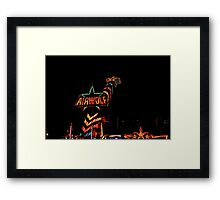 Fun fair ride Framed Print