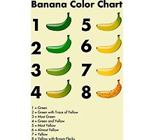 Banana color chart Photographic Print