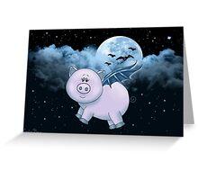 Spooky Piggy II Greeting Card