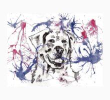 Abstract Ink - Golden Retriever Magenta and Purple Baby Tee