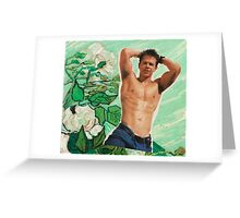 Marky Mark Wahlberg beauty art edit tumblr collage Greeting Card