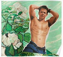 Marky Mark Wahlberg beauty art edit tumblr collage Poster