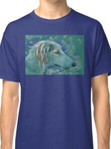 Saluki Dog Portrait Painting Classic T-Shirt