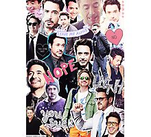 Robert Downey Jr. fangirl edit tumblr collage Photographic Print