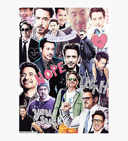 Robert Downey Jr. fangirl edit tumblr collage Photographic Print