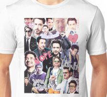 Robert Downey Jr. fangirl edit tumblr collage Unisex T-Shirt