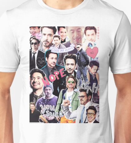 Robert Downey Jr. fangirl edit tumblr collage Unisex T-Shirt
