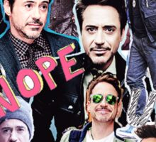 Robert Downey Jr. fangirl edit tumblr collage Sticker