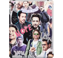 Robert Downey Jr. fangirl edit tumblr collage iPad Case/Skin