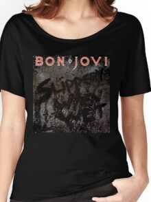 BON JOVI SLIPPERY WHEN WET - Women's Relaxed Fit T-Shirt