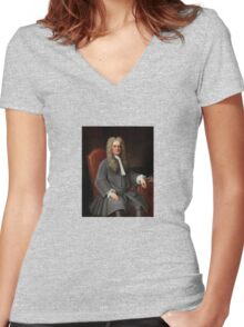 Sir Isaac Newton Women's Fitted V-Neck T-Shirt