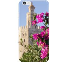 Seville - Torre del Oro between flowers iPhone Case/Skin