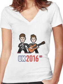 UK 2016 Women's Fitted V-Neck T-Shirt