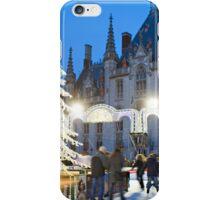 Skating rink at Christmas, Markt, Bruges, Belgium iPhone Case/Skin