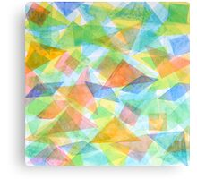 Red Triangles and their Friends Canvas Print