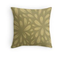 blossom (gold) Throw Pillow