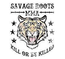 Savage Roots MMA Tiger Photographic Print