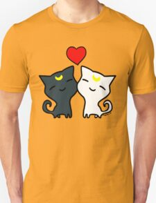Sailormoon Cats Luna and Artemis T-Shirt