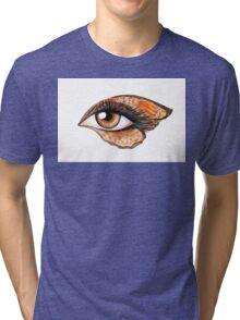Eye make up   Tri-blend T-Shirt