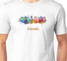 Gdansk skyline in watercolor Unisex T-Shirt