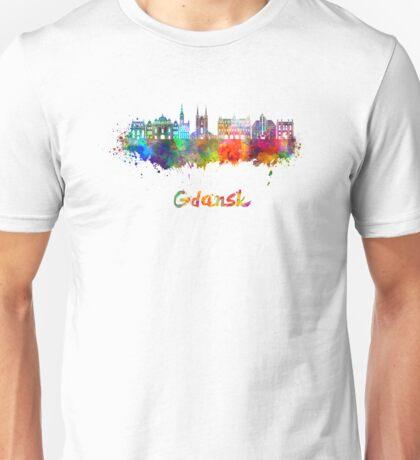 Gdansk skyline in watercolor Unisex T-Shirt