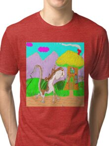 Lulu The Hulu Goes Walking One Fine Day In The Spring Tri-blend T-Shirt