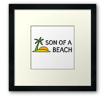 Beach Summer Vacation Bitch Funny Humour Wordplay Framed Print