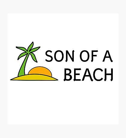 Beach Summer Vacation Bitch Funny Humour Wordplay Photographic Print