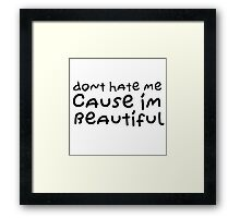 Cute Girlfriend Boyfriend Gift Funny Nice Love Beautiful Framed Print