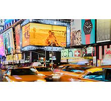 Taxis In Times Square Photographic Print