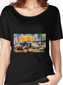 Taxis In Times Square Women's Relaxed Fit T-Shirt