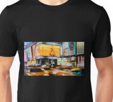 Taxis In Times Square Unisex T-Shirt
