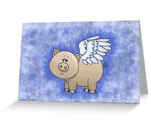 Angel Piggy Greeting Card