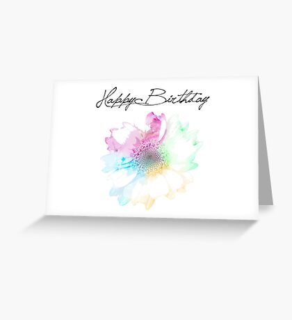 Flower Birthday Card Greeting Card