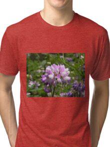 Purple Crown Vetch Tri-blend T-Shirt