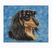 Marcus - Long Haired Black and Tan Dachshund  Baby Tee