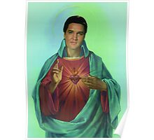 Sacred heart of Elvis Poster