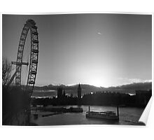 London...London Eye...Thames...blink of a moment...caught it... Poster