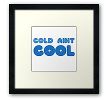 Winter Snow Cool Cold Funny Joke Wordplay Clever Ice Framed Print