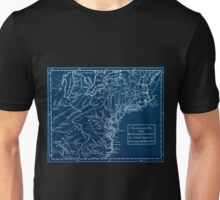American Revolutionary War Era Maps 1750-1786 301 An accurate map of the English colonies in North America, bordering on the river Ohio Inverted Unisex T-Shirt