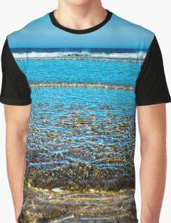 gentle soft waves lashing onto ballybunion sandy beach Graphic T-Shirt