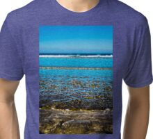 gentle soft waves lashing onto ballybunion sandy beach Tri-blend T-Shirt